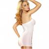 שמלת רשת מיני לבנה
